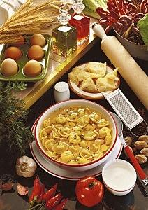 pasta on table
